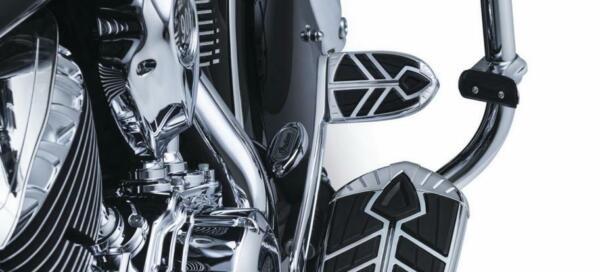 Chrome 5654 Kuryakyn Spear Brake Pedal Pad for Indian