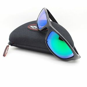 6387300356fd6 Wiley X P-17 GM Gloss Black Polarized Emerald Green New Authentic ...