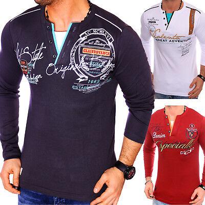 Erfinderisch Herren Sweatshirt Langarmshirt Sweat Longsleeve Freizeit Langarm T-shirt Neu Attraktiv Und Langlebig