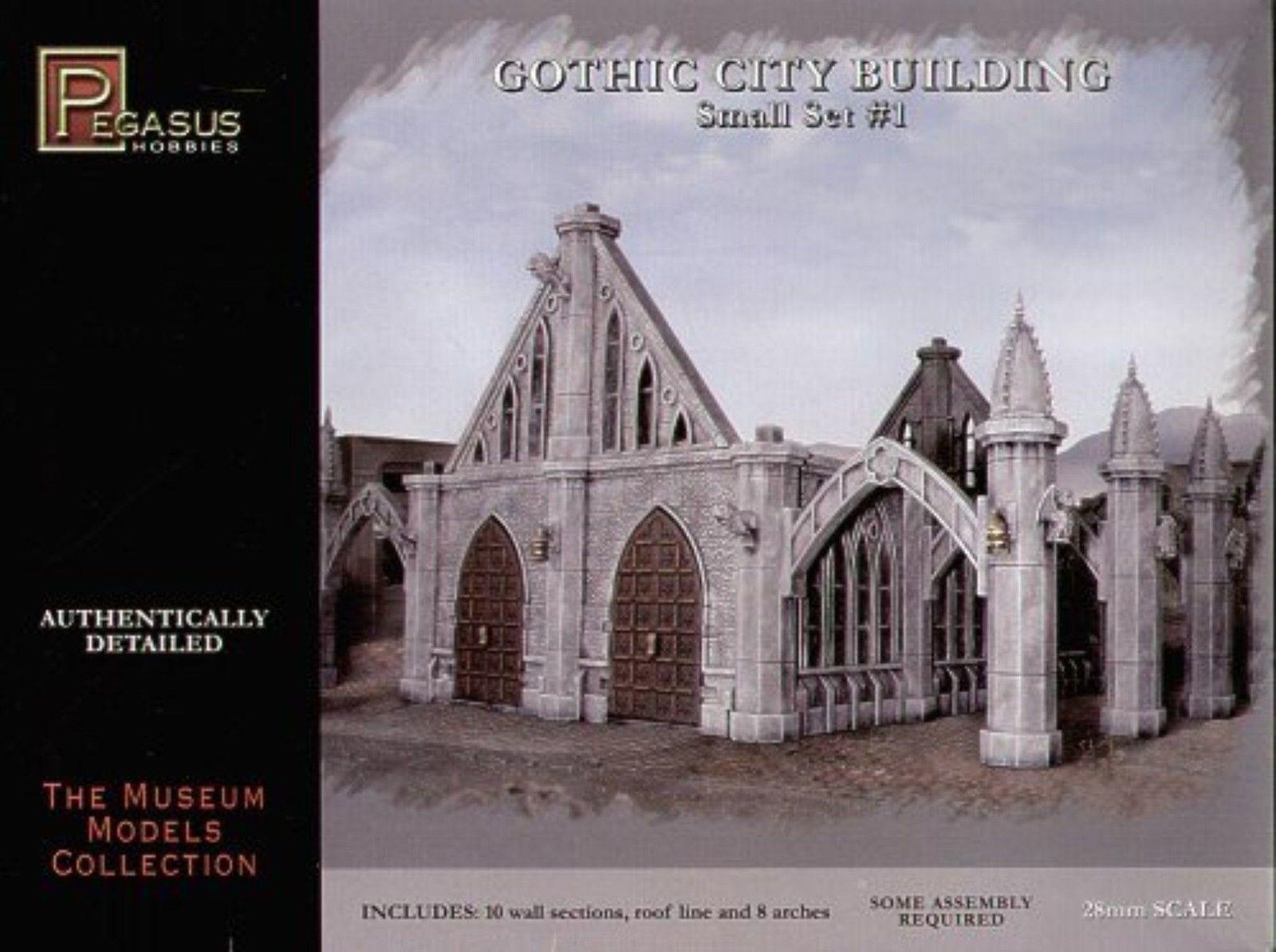 PEGASUS 4924 Gothic City byggnad SMALL SET 1 fantasi Sci -Fi Wargaming fri FkonstYG