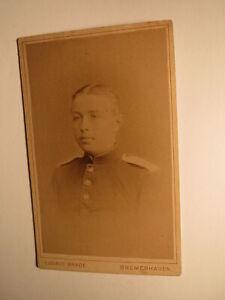 Bremerhaven-soldat En Uniforme-portrait-régiment Nº 9/cdv-afficher Le Titre D'origine