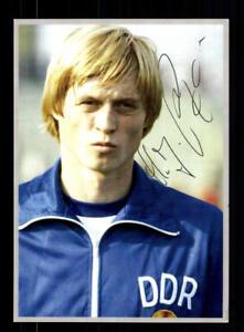 Hans Jürgen Riediger Autogrammkarte DDR Nationalspieler OS 1976 Original Sign