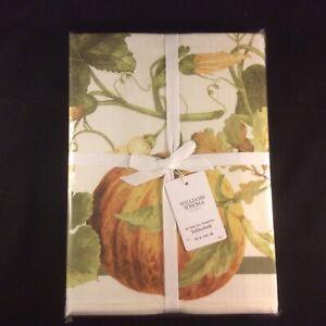 NEW-Williams-Sonoma-Botanical-Pumpkin-Tablecloth-70-x-120