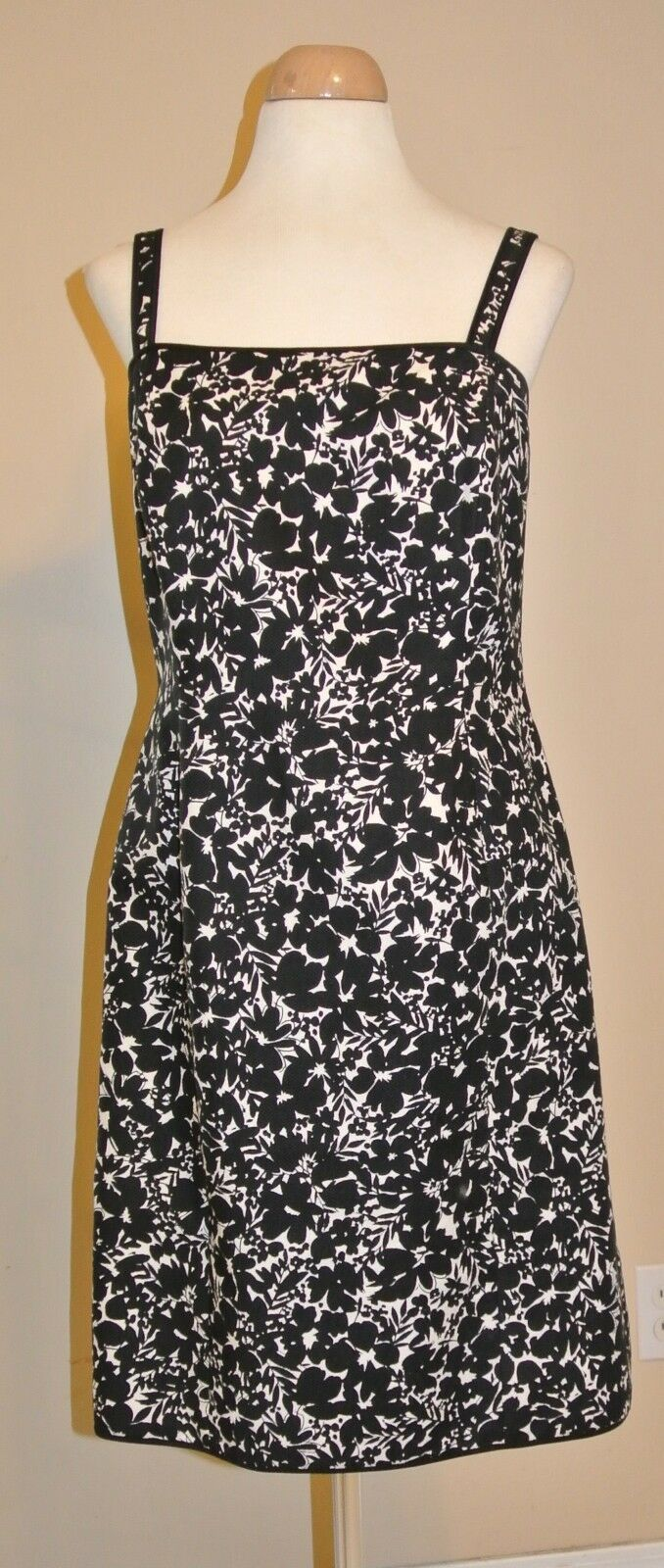 Ann Taylor Sleeveless Fitted Floral Evening Party Dress Size 8 Petite 8 P SALE
