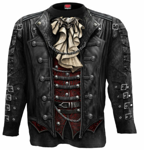 Steampunk Gothic Biker Rock Metal Vampire Victorian 3D Graphic T-shirt