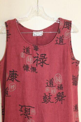Dressing Clio Sz M Linen Asian ROSE Lagenlook Art