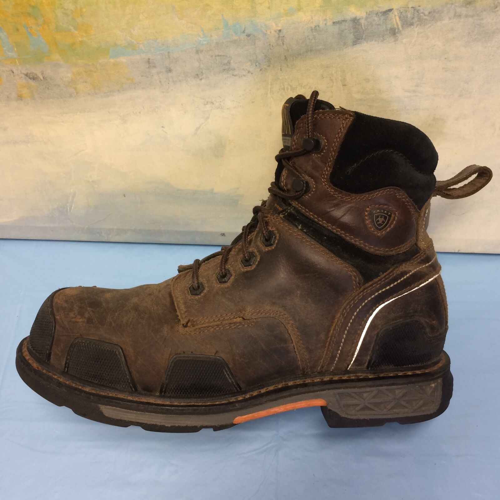 Ariat Para Hombre Overdrive 6  Lace-Up Work bota Composite Toe - 10010905 tamaño 12 Extra Ancho