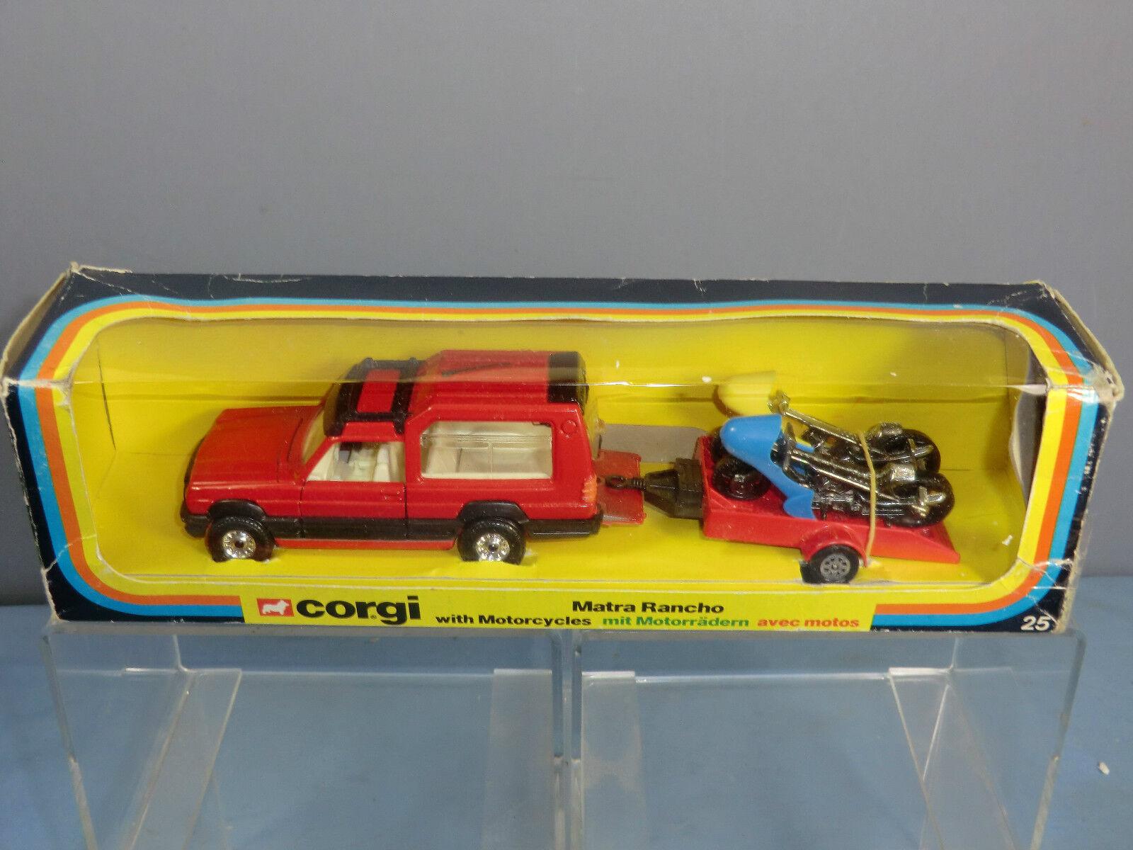 Corgi spielzeug geschenkset talbot matra rancho mit 25 modell no.gs motorräder im mib