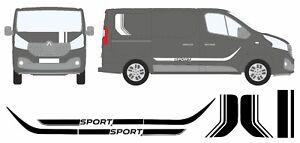 Renault-Traffic-or-Vauxhall-Vivaro-Sport-Vinyl-Side-Stripes-and-Bonnet-kit
