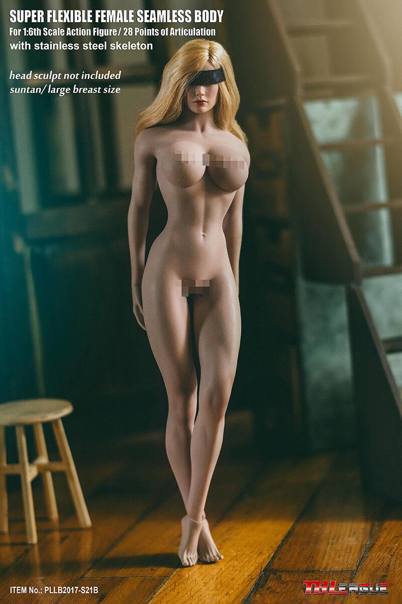 US TBLeague 1 6 Flexible Flexible Flexible Action Figure Steel Body Large Beast Female S21B Suntan b9d3c1