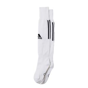 Adidas Football Socks White Men Boy Running Training Santos 3 Stripes New Z56222
