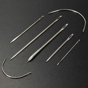 7X Nadeln gebogene Nadel Polsternadel Nähnadel Repair Rund Leder Sattlernadel