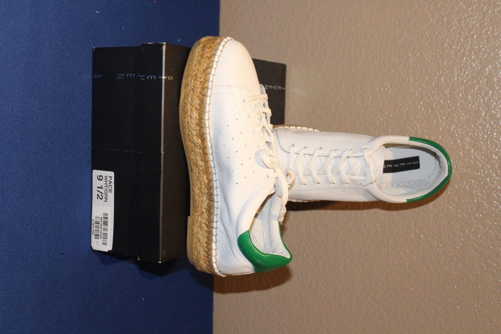 New Steven by Steve Pace Madden Weiß / GREEN Pace Steve Espadrille Sneakers Schuhes SIZE 9.5 f37040