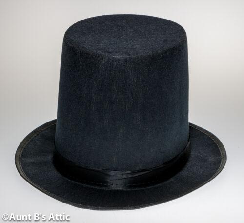 Top Hat Black Pressed Felt Stovepipe Victorian Era Gentleman/'s Costume Hat