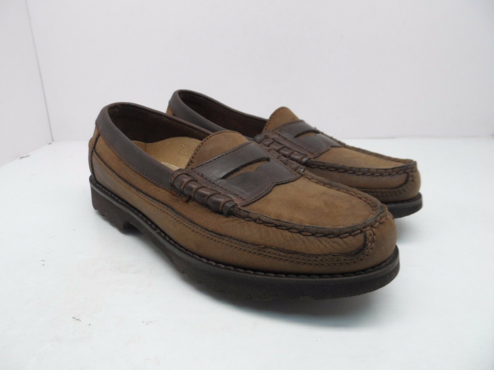 Roc Sport by Rockport Women's Leather Loafers w Vibram Sole Brown Size 7M