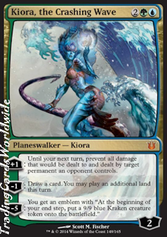 Kiora, the Crashing Wave      Foil    NM    Born of the Gods    engl.    Magic 50fc57