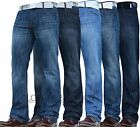 NEW MENS SMITH & JONES BOOTCUT FLARED & STRAIGHT LEG BLUE JEANS ALL WAIST SIZES