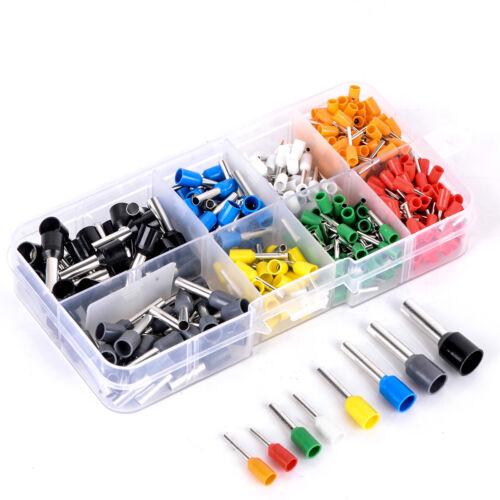 400 Aderendhülsen Sortiment Pin 0.5-6mm² Aderendhülse isoliert Kabelschuhe + Box