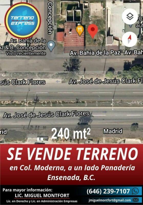 venta de terrenos en Ensenada en colonia moderna