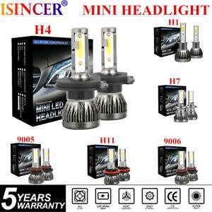 Pair-CREE-Mini-H1-H4-H7-H11-3800W-20000LM-Car-LED-Headlight-Bulbs-Kit-Xenon-Whit