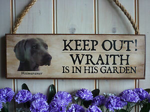 PERSONALISED-HOUSE-PLAQUE-WEIMARANER-SIGN-GARDEN-KEEP-OUT-SIGN-GATE-FENCE-SIGN