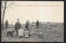 1909 POSTCARD SHREVE RIDGE PA/PENNSYLVANIA FAMILY HOME CYCLONE TORNADO DISASTER