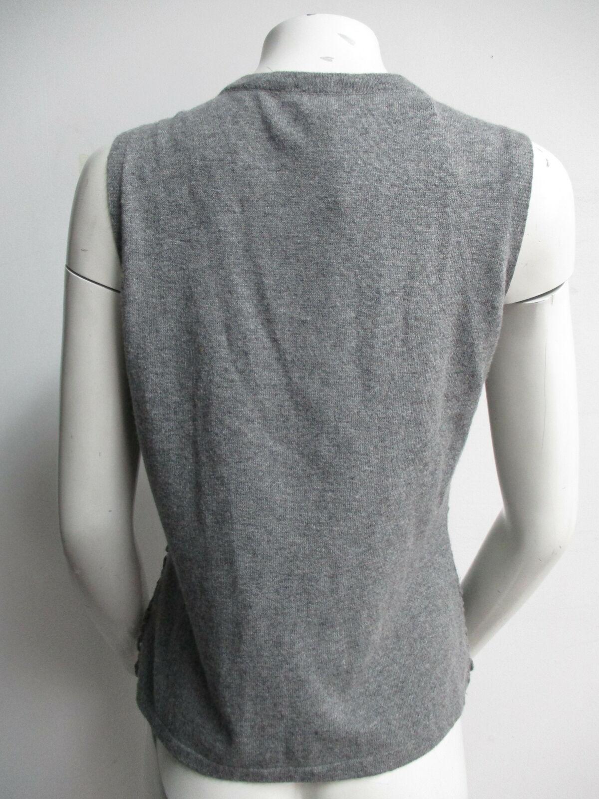ESCADA grey crochet sweater vest sz L - image 3