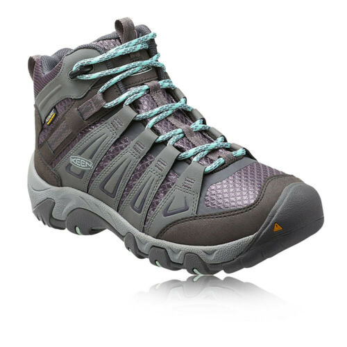 Keen Oakridge Mid Womens Grey Waterproof Walking Trekking Boots Shoes
