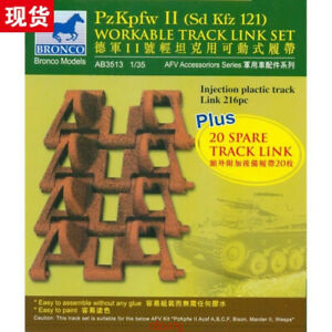 BRONCO-AB3513-1-35-PzKpfw-II-Sd-Kfz-121-Workable-Track-Lint-Set-Hot