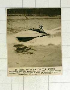 1920-Despujol-Motorboat-450-Hp-Engine-River-Seine-75-Mph