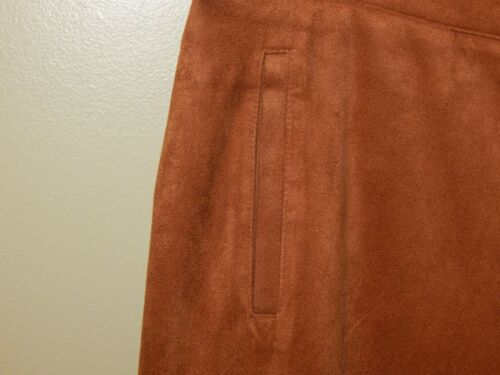New Brown larghi Chicos in 2 Nwt Sz 5 Pantaloni Gingerbread pelle scamosciata firmati F076ndqgqw