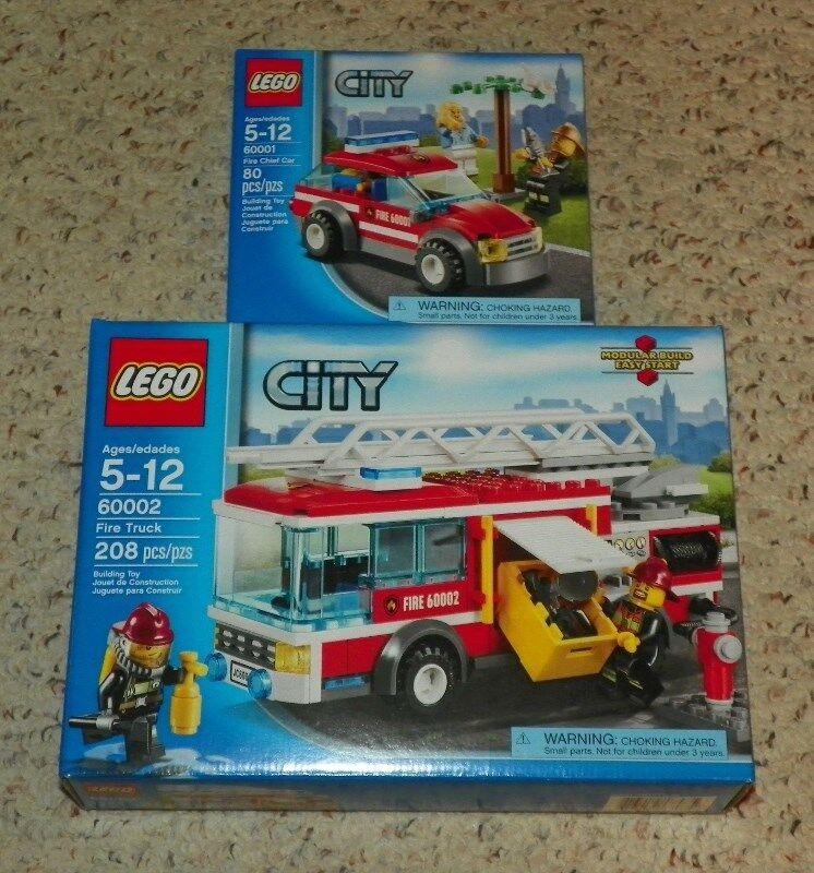 Lego 60001 & 60002-ciudad fuego jefe CAR & Fire Truck - 2013-Sellado De Fábrica