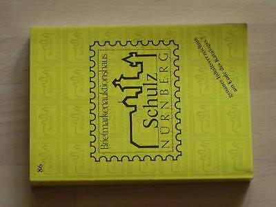 Auktionskatalog, 86. Auktion, Feb. 2001, A. Schulz Erfrischung