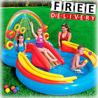 Inflatable Kid Pool Slide Intex Sprayer Kiddie Swimming Water Fun Play Toy New