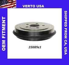 Verto USA Brake Drum  -Premium Rear  35089X1, Fits Toyota