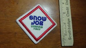 VINTAGE SNOW JOB CERVINIA ITALY DOWN HILL SKIING PATCH BX 12 #4