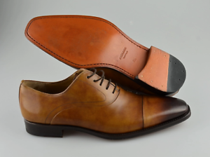 311a284bf3e R - Men s MAGNANNI  Saffron  Brown Leather Cap Toe Oxfords Size US ...
