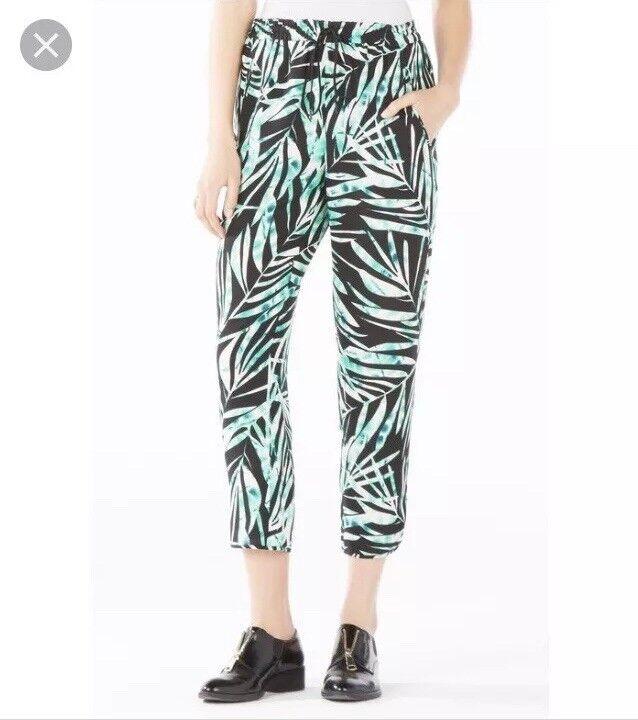 NWT BCBGMAXAZRIA Sebastian Print Pants Elastic Waist Size M