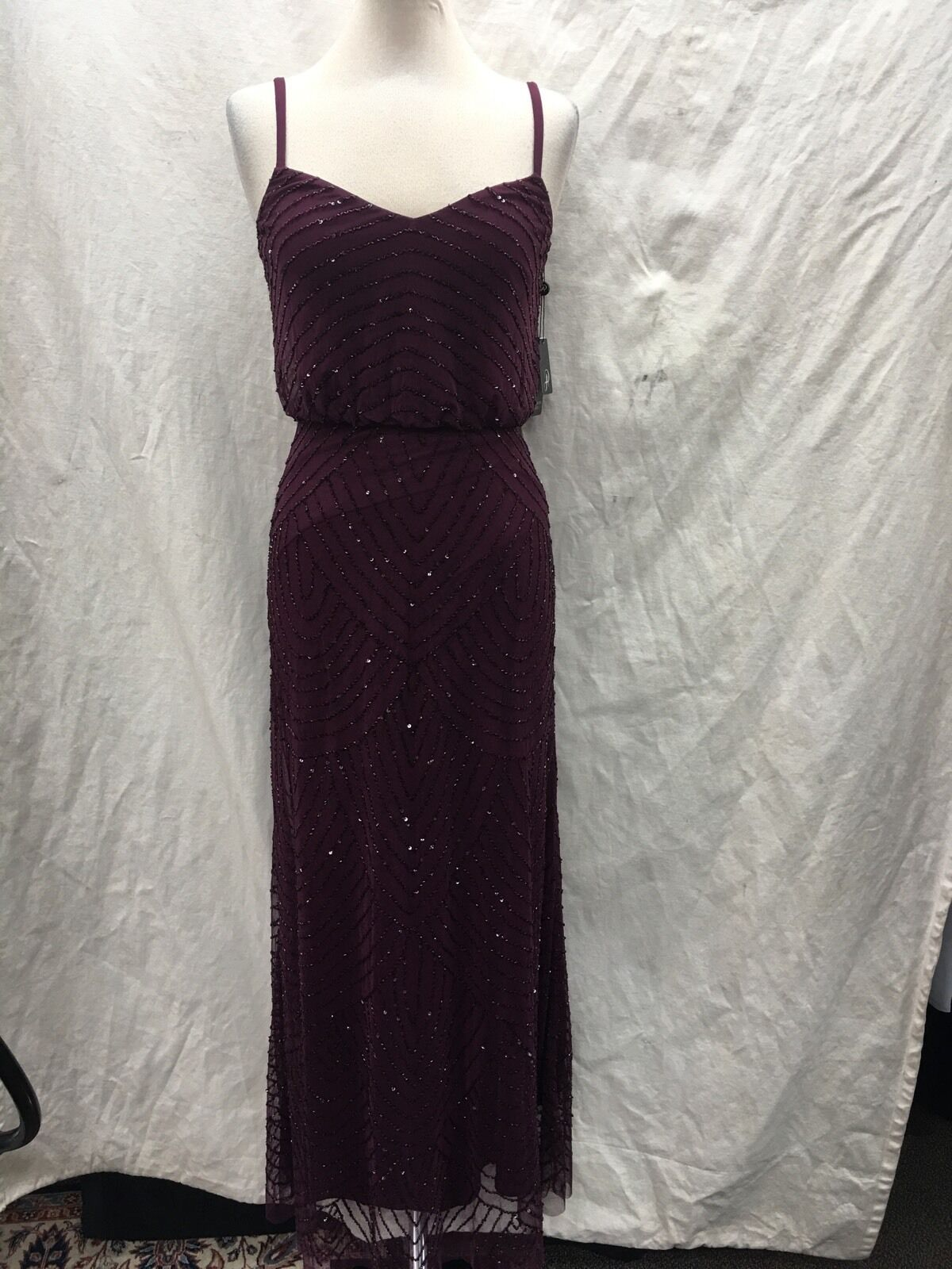 ADRIANNA PAPELL DRESS  NEW W TAG SIZE 18 RETAIL LENGTH62   LONG GOWN CASSEY