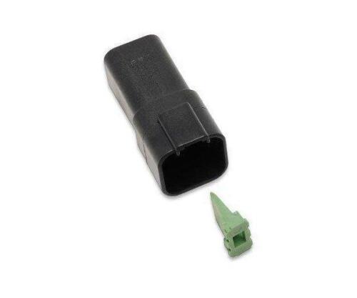 Black DR-6B* Namz Deutsch Receptacle  6-Pin