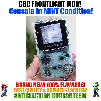 Nintendo Game Boy Color GBC Frontlight Front Light Frontlit Mod Clear MINT NEW