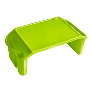 Kids Lap Desk Laptop Tray Portable Low Activity Table Floor Work Green Grade B