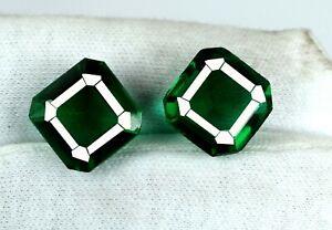 22-24 Ct Asscher Cut Muzo Colombian Emerald Pair Natural AGI Certified Best Deal