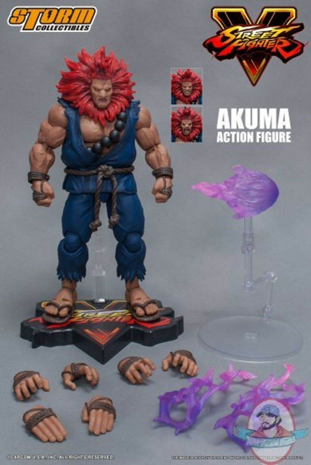 1 12 Street Fighter V Akuma Action Figure Storm Collectibles