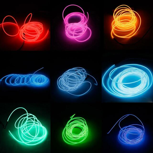 3M LED Flexible Tube Soft Strip Lamp Light 10 Color Party Car Decor + Controller