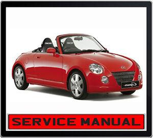 daihatsu copen roadster 2002 2008 repair service manual in dvd ebay rh ebay com au Daihatsu Mira Daihatsu Sirion