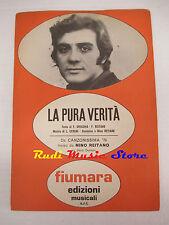 MINO REITANO La pura verita' 1970 RARO SPARTITO SINGOLO italy cd lp dvd mc