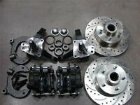 Mustang Ii 2 Front 11 Drilled Rotor Upgrade Disc Brake Kit Chevy Stock Spindle