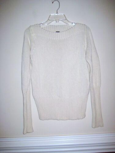 GAP   Ivory Boat neck Sweater Sz L