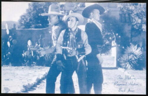 TIM McCOY RAYMOND HATTON BUCK JONES Arcade Exhibit Card